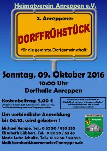 Handzettel Dorffrühstück 2016